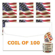USPS Postage Forever Stamps US Flag 2017 - 1 Roll Coil of 100 Forever Stamps