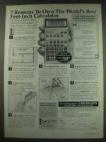 1991 Calculated Industries Constrution Master II Calculator Ad