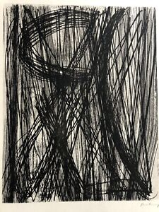 3 Lithographies Hans Hartung, Saul Steinberg,chagall