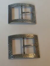Pair of 925 Sterling Silver Childs Shoe Buckles Birmingham 1925 G.F.W&S Art Deco