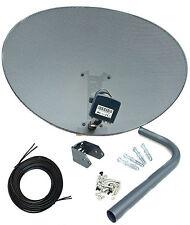 Sky 80cm Zone 2 Freesat Satellite Dish & MK4 Quad LNB + 5m Black Twin Cable Kit