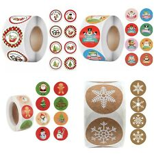 Merry Christmas Sticker Business Sticker Round Parcel Seal 8 Style 25mm 50pcs 🔥