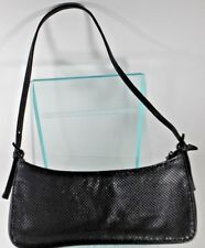 Whiting and Davis Black Metal Mesh Evening Bag Shoulder/ Small Sachel Purse