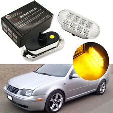 Amber LED Side Marker Lights For Volkswagen MK4 Golf Jetta Bora B5/B5.5 Passat