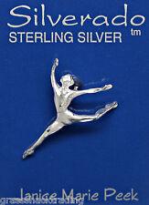 DANCER MODERN BALLET 925 Sterling Silver Pendant Charm 2210