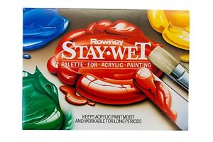 Daler Rowney Stay Wet Palette for Acrylic Painting 32 x 23 cm