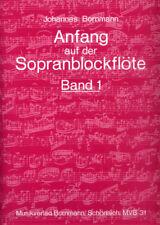 Johannes Bornmann Anfang auf der Sopranblockflöte 1 Noten Schule