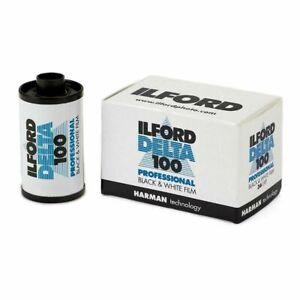 5 x Ilford Delta 35mm/135 Print Plus 100 ISO Black & White Camera film 36 exp
