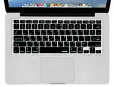 "XSKN Hebrew / English Black Silicone Keyboard Skin Cover for MacBook 13"" 15"", US"