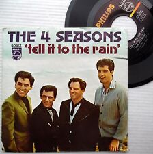 FOUR SEASONS Rare 1966 picture sleeve 45 TELL IT TO THE RAIN b/w Show girl e6027