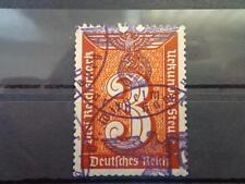 GERMANY-NAZI 3 RD REICH SPECIAL REVENUES TAX EAGLE-SWASTIKA 3 MARK RARE