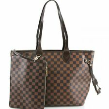 Ladies Shopper Bag & Clutch Bag Womens Check Floral 2 in 1 Fashion Bags