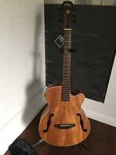 NEW ARIA FET-F1 NATURAL ACOUSTIC ELECTRIC GUITAR WITH GIG BAG - FLAMED NATO BODY