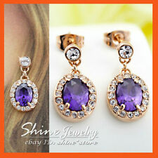 Copper Amethyst Fashion Earrings