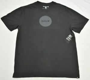 Hurley T-Shirt Men's Size L Boxy One & Only Dotted Graphic Tee Smoke Grey R033