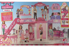 Barbie Malibu Mall With Boutique, Salon, Food Court, Escalator, Screen Retired