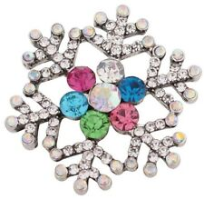 Christmas Winter Snowflake Rhinestone 20mm Snap Charm For Ginger Snaps Jewelry