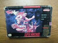 Fatal Fury SNES Super Nintendo Fighting Game Boxed