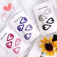 Heart-shaped Colourful BB Clips Hairpins Girls Kids Headwear Hair Clips