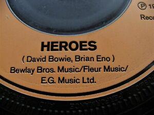 "DAVID BOWIE HEROES ORIGINAL 1977 UK 7"" SINGLE - BRIAN ENO CREDIT (NOT BRIEN ENC)"