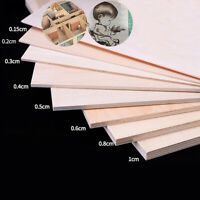 1.5-10MM Basswood Board Plywood Aviation Model Layer Plank DIY Wood Craft Pieces