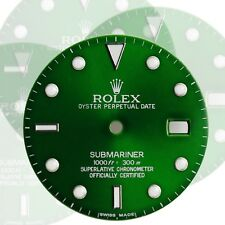 To Fit Rolex Submariner Steel Green Luminous Dial Model16800, 16610, 116610.