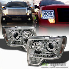 2009-2014 Ford F150 F-150 LED Halo Projector Headlights w/DRL LED Running Lights
