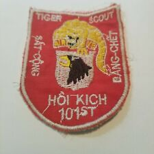 TIGER SCOUT SNIPER - 101st AIRBORNE, Shoot to Kill, VIETNAM WAR PATCH (A200)