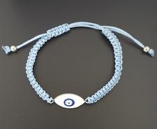 Nazar Knoten Armband Türkisches Magisches Auge Böser Blick Eye Hellblau Silber