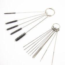 Carburetor Carbon Dirt Jet Remove 10 Cleaning Needles + 5 Brushes Tool Kits Hot