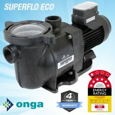 Onga SuperFlo VS 800 Energy Efficient Pool Pump. 4Y Warranty, 7 Star Rated