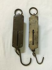 Antique CHATILLON'S Scale 1891-92 Spring Hanging 50# no.2 & Vintage OXWALL 50#