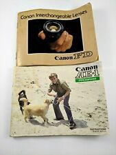 Canon Ae-1 Program Owners Manual & Canon Fd Interchangeable Lenses Catalog/Guide