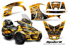 CAN-AM BRP SPYDER RT 2014-2016 CREATORX GRAPHICS KIT DECALS SPIDERX YELLOW