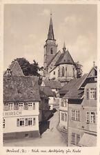 Oberursel , Blick vom Marktplatz zur Kirche , Ansichtskarte ,1950 gel.