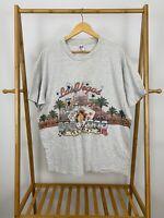 VTG 90s Las Vegas Nevada Double Side Graphic Sansegal T-Shirt Size 2X USA