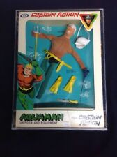 Captain Action Aquaman 1966 Original & Complete - professionally re-sewn to card