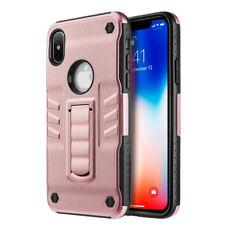 Apple iPhone X Metallic Hybrid Case w/Kickstand Rose Gold