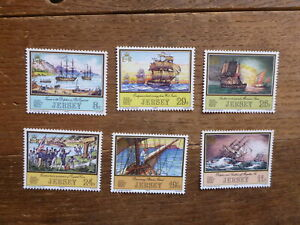 JERSEY 1983 SAILING BOATS SET 6 MINT STAMPS