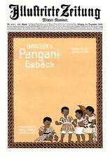 Bahlsen Weihnachten Xl Reklame 1910 Leipniz Pangani Christbau Geschenke Kunst Sammeln & Seltenes Reklame & Werbung