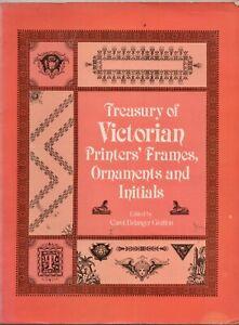 Orig Dover Press 'Treasury of Victorian Printers Frames, Ornaments & Initials'
