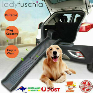 Folding Dog Ramp for SUV Truck Pet Safety Stairs Steps Portable Non-Slip Ladder