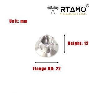 RTAMO   M6 M8 M10 M12 M14 Solid Titanium Alloy Gr5 Hex Flange Special Spec Nuts