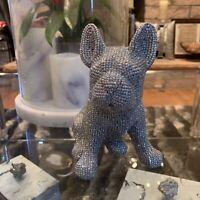 Sparkly Frenchie Buldog Figurine Statue New