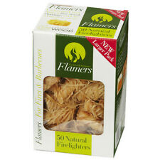 50 x Flamers Natural Wood Firelighters. Ideal for Fireplaces, Stoves, BBQ.