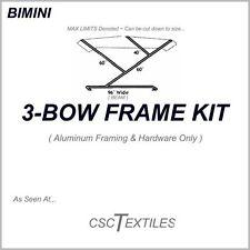 "3-BOW BOAT FRAME KIT w/Fittings for BIMINI: 7/8""OD ~ USA-or-Canada"