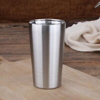 MagiDeal Double Wall Stainless Steel Tumbler with Lid Metal Tumbler Cup