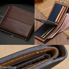 Business Mens Slim Bifold Leather Credit Card ID Holder Wallet Purse Men or Boys