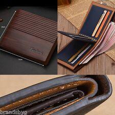 Business Mens Slim Bifold Leather Credit Card ID Holder Wallet Purse Men or Boys