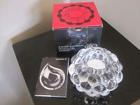 """Orrefors """"Raspberry"""" Votive Candle Holder, New in Box - A Perfect Gift!"""